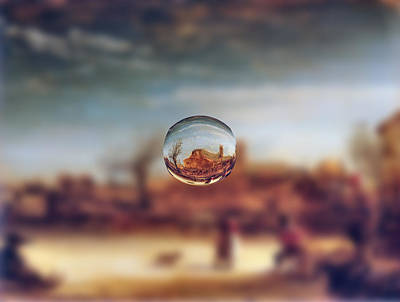 Digital Art - Sphere 14 Rembrandt by David Bridburg