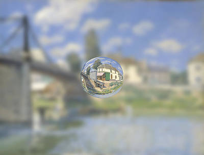 Digital Art - Sphere 18 Sisley by David Bridburg