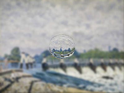 Digital Art - Sphere 19 Sisley by David Bridburg