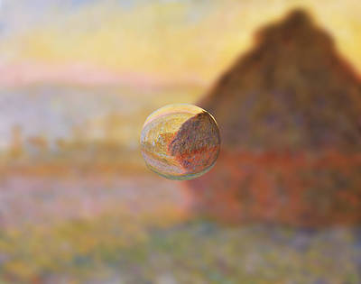 Digital Art - Sphere 5 Monet by David Bridburg