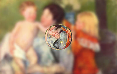 Digital Art - Sphere II Cassatt by David Bridburg