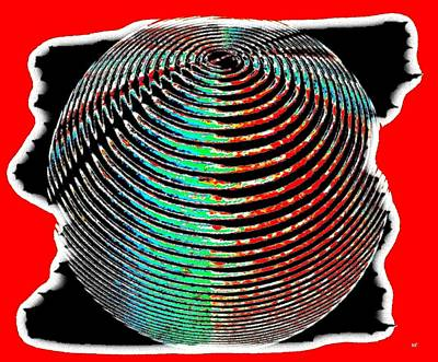 Luminous Digital Art - Sphere In Red by Will Borden