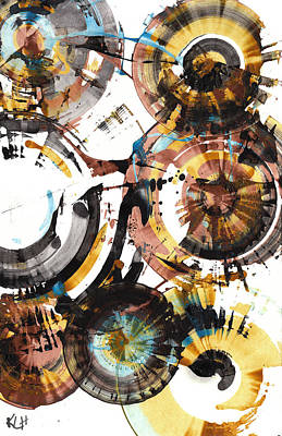 Painting - Sphere Series 997.042312 by Kris Haas