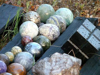 Smokey Quartz Photograph - Spheres In Line  by William McCoy
