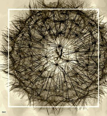 Designs In Nature Mixed Media - Spheres Of Color Brown by Debra     Vatalaro