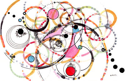 Drawings Royalty Free Images - Spheres of Influence Royalty-Free Image by Regina Valluzzi