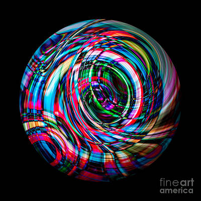 Photograph - Spherical Abstract by Michael Arend