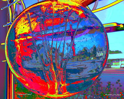 Digital Art - Spherical Fancy by Larry Beat