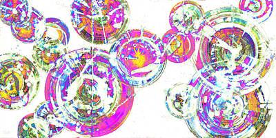 Painting - Spherical Joy Series 116.051911-4invfaddif by Kris Haas