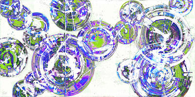 Painting - Spherical Joy Series 116.051911-a-2invfadediff by Kris Haas