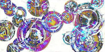 Painting - Spherical Joy Series 116.051911.18x9-1invfadediff by Kris Haas