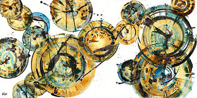 Painting - Spherical Joy Series 116.051911panel123 by Kris Haas