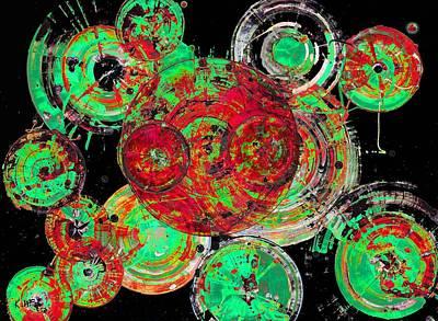 Painting - Spherical Joy Series 1272.121112invfadedifinvsat by Kris Haas