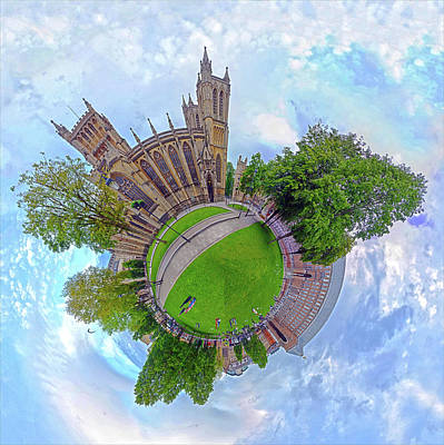 Photograph - Spherical Panorama College Green Bristol by Frans Blok