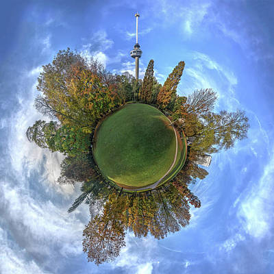 Photograph - Spherical Panorama Park And Euromast by Frans Blok