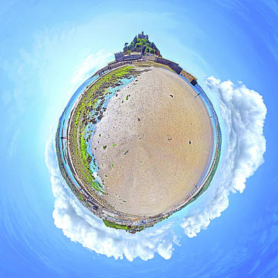 Photograph - Spherical Panorama St. Michael's Mount by Frans Blok