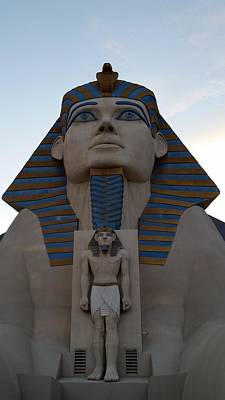 Photograph - Sphinx At Luxor - 1 by Karen J Shine