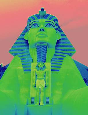 Sphinx And Pink Sky Art Print