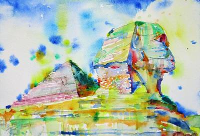 Painting - Sphinx And Pyramid by Fabrizio Cassetta