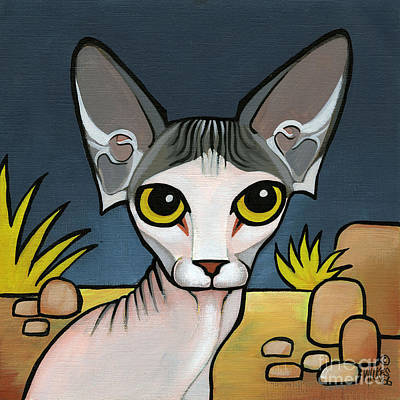 Painting - Sphinx Cat by Leanne Wilkes