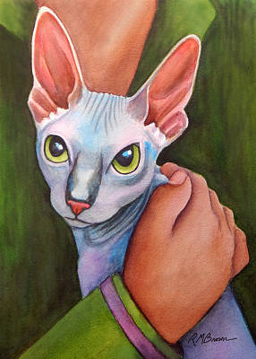 Sphynx Cat Painting - Sphinx Cat by Rachel Armington