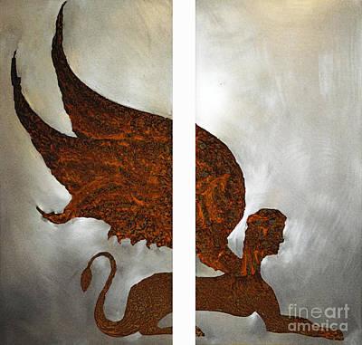 Sphinx Mixed Media - Sphinx II by Margaret Hastings