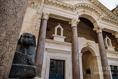 Photograph - Sphinx In Diocletians Palace, Split, Croatia by Global Light Photography - Nicole Leffer