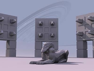 Digital Art - Sphinx by Mariusz Loszakiewicz