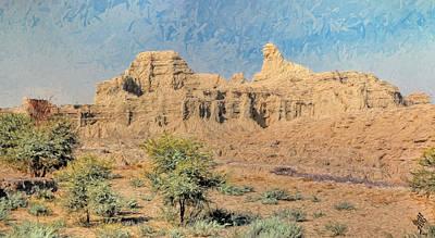 Sphinx Of Hungol National Park Art Print by Syed Muhammad Munir ul Haq