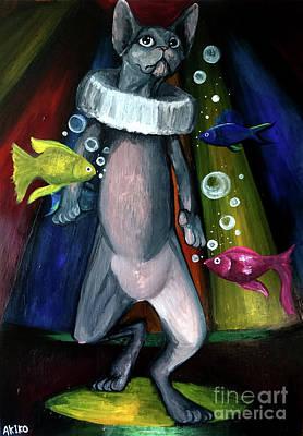Sphynx Clown Art Print