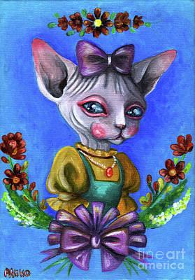 Painting - Sphynx Girl by Akiko Okabe