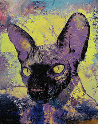Sphynx Cat Painting - Sphynx Painting by Michael Creese