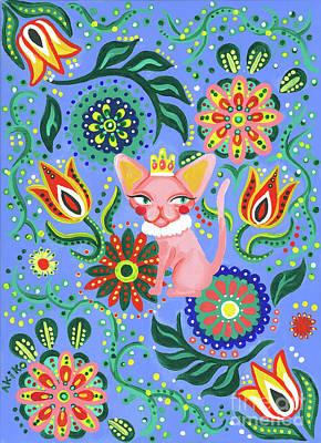 Sphynx Cat Painting - Sphynx Pattern by Akiko Okabe