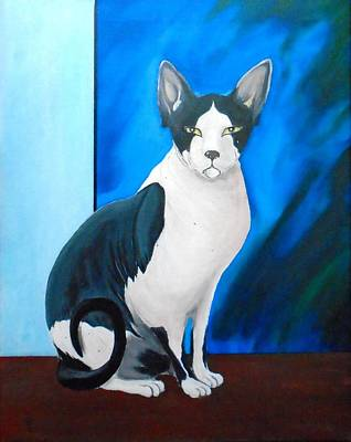 Painting - Sphynx Portrait by John Lyes