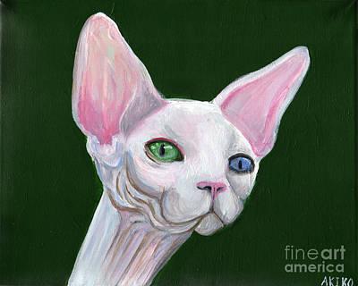 Sphynx Art Painting - Sphynx2 by Akiko Okabe