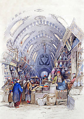 Painting - Spice Bazaar by Munir Alawi