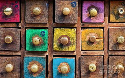 Photograph - Spice Drawers Pattern by Tim Gainey