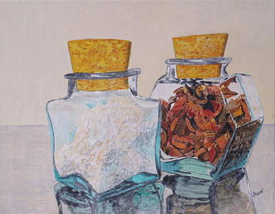 Painting - Spice Jars by Hilda and Jose Garrancho