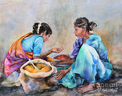 Spice Sellers Art Print by Kate Bedell