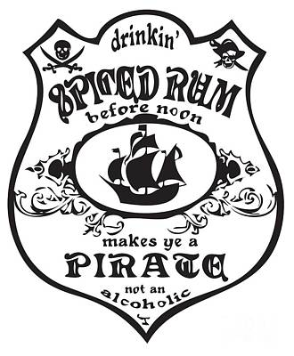 Spiced Rum Art Print by Frederick Holiday