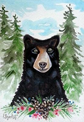 Painting - Spicer The Black Bear by Elizabeth Robinette Tyndall