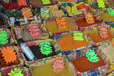 Photograph - Spices At The Vieux Nice Market by Allen Sheffield