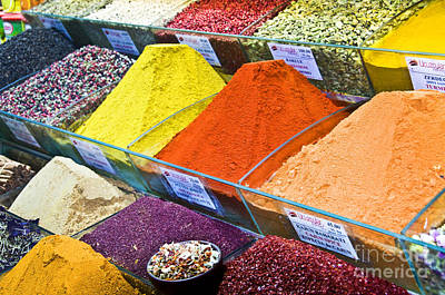 Grand Bazaar Photograph - Spices by Delphimages Photo Creations