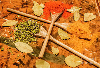 Turmeric Photograph - Spicy Kitchen Ingredients  by Jorgo Photography - Wall Art Gallery