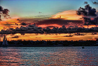 Mallory Square Key West Wall Art - Photograph - Spicy Sunset by Joetta West