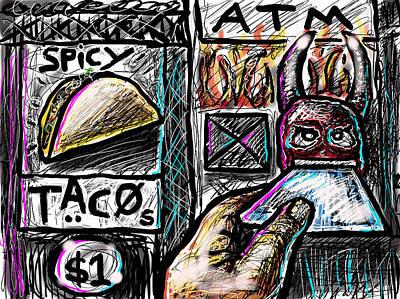 Digital Art - Spicy Tacos by Joe Bloch