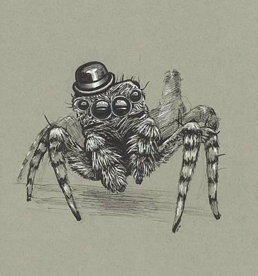 James Parker Drawing - Spider Bro by James Parker