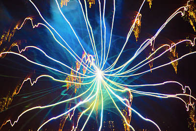 Photograph - Spider Fireworks by Yulia Kazansky