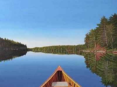 Painting - Spider Lake Paddle by Kenneth M Kirsch
