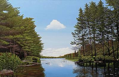 Painting - Spider Lake Pond by Kenneth M Kirsch